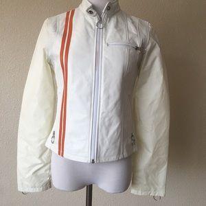 Wilson leather maxima white leather jacket